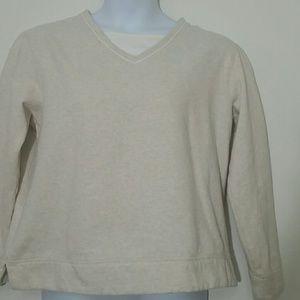 Kim Rogers XL sweatshirt light beige tan